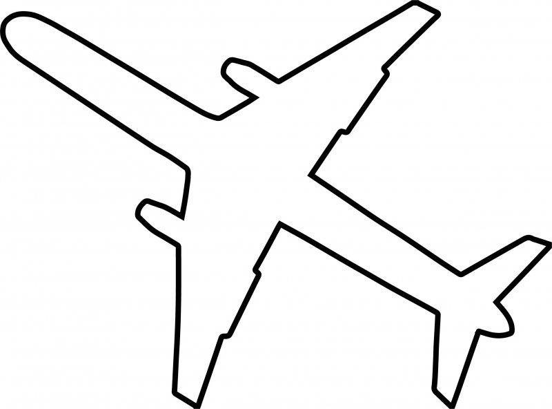 Шаблоны самолетов для вырезания