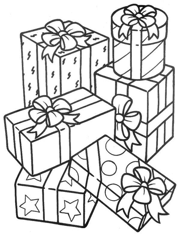 доверено гора подарков рисунок простых оконных проемов