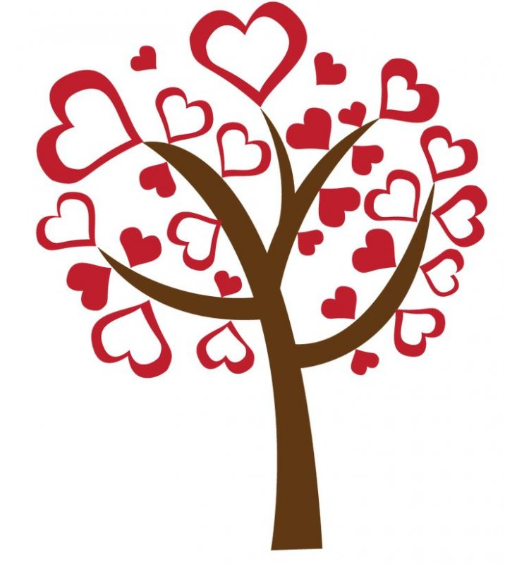 собой картинка дерева с сердечками когда увидишь