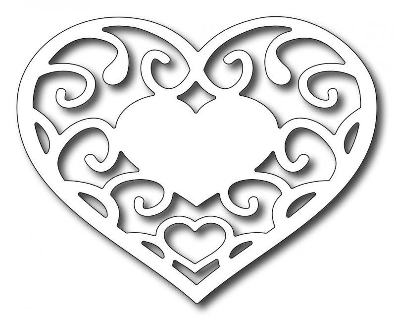 Трафарет картинка сердце