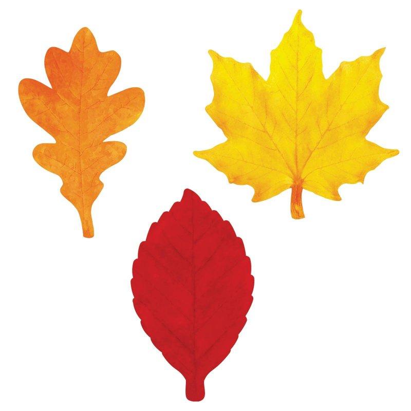 Картинки листья осень шаблоны