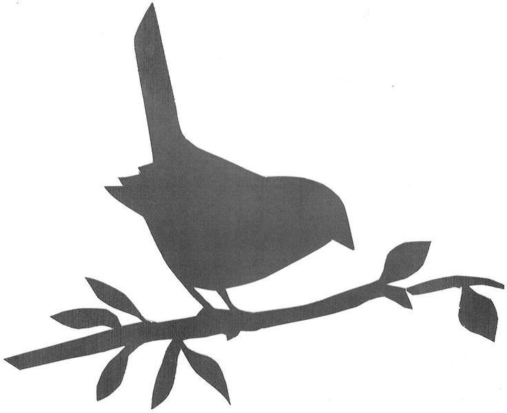 Силуэт птички для вырезания шаблон картинки