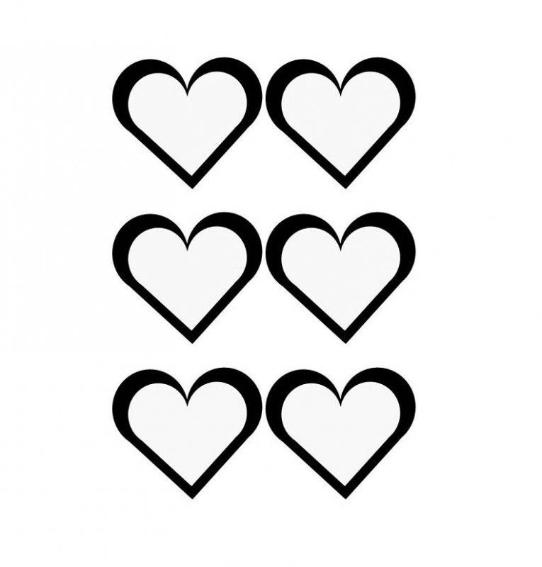 Рисунок сердечки шаблон, для открытки