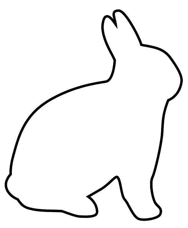 Заяц трафарет картинки